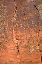 Rock petroglyphs. V-Bar-V Ranch, Arizona, USA. - Photo #17779