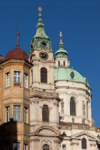 St Nicholas Church tower in the Little Quarter. Prague, Czech Republic. - Photo #29979