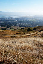 View of the East Bay. Mission Peak, Fremont, California, USA. - Photo #6288