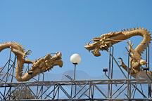 Twin dragons. Chinatown, Los Angeles, California, USA. - Photo #6903