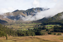 Clouds and Phobjikha Valley, Bhutan. - Photo #23708