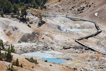 Fumaroles, and pyrite pools at Bumpass Hell. Lassen NP, California. - Photo #27108
