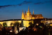 Saint Vitus Cathedral at night. Prague, Czech Republic. - Photo #30108