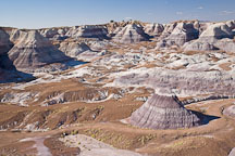 Afternoon light on the Blue Mesa badlands. Petrified Forest NP, Arizona. - Photo #18008