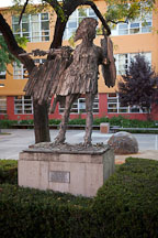 Spirit of Sparta statue on San Jose State University campus. - Photo #22180