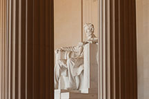 Abraham Lincoln sculpture. Lincoln Memorial, Washington, D.C. - Photo #29081