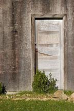Door to abandoned barn. Russian Ridge Open Space Preserve. California. - Photo #3381