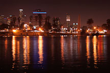 Light reflections at MacArthur Park. Los Angeles, California, USA. - Photo #8081