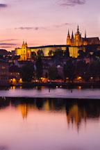Prague castle at twilight. Prague, Czech Republic. - Photo #30081
