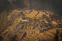 Quary and view of Machu Picchu from the west. - Photo #9881