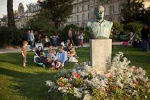 Bust of Antoine de Saint Exupery in the Tuileries Garden. Paris, France. - Photo #31082