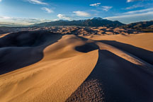 Dunes in the late afternoon. Great Sand Dunes NP, Colorado. - Photo #33182