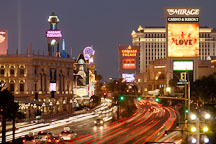 Las Vegas Boulevard at night. Nevada, USA. - Photo #13482