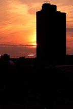 Skyscraper at sunset. Baltimore, Maryland, USA. - Photo #3982