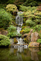 Heavenly Falls. Portland Japanes Garden, Oregon. - Photo #28182