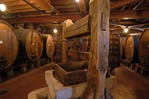 Wine press and giant barrels. Napa Valley, California, USA. - Photo #4582
