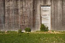 Door to abandoned barn. Russian Ridge Open Space Preserve. California. - Photo #3383