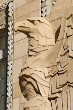 Eagle sculpture at historic city hall. Phoenix, Arizona, USA. - Photo #5483