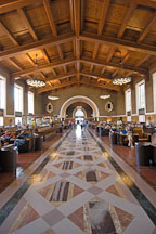 Interior of Union station. Los Angeles, California, USA. - Photo #6483
