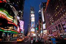 Times Square at night. New York City, New York, USA. - Photo #13083