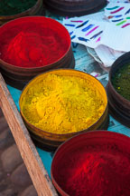 Pigments for sale. Pisac market, Sacred Valley, Peru. - Photo #9084