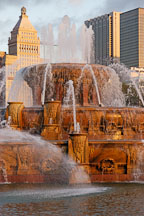 Buckingham Fountain at dawn. Chicago, Illinois, USA. - Photo #10484