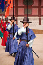 Changing of the guard at Gyeongbok Palace in Seoul, South Korea. - Photo #21084