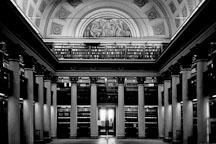 Interior of the University library. Helsinki, Finland - Photo #3184