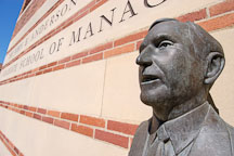 John E Anderson bust by John Edward Svenson. Anderson School of Management, University of California, Los Angeles, California, USA. - Photo #6384