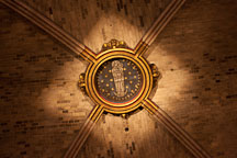 Blessed virgin Mary on the Notre Dame vaulted ceiling. Paris, France. - Photo #30985