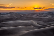 Sunset at Great Sand Dunes NP. - Photo #33185