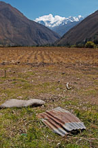 Discarded metal sheeting. Sacred Valley, Peru. - Photo #9186
