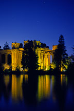 Colonnade at the Palace of Fine Arts and reflection in the lagoon. San Francisco, California. - Photo #87
