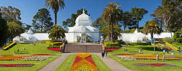 Panorama of Conservatory of Flowers. Golden Gate Park, San Francisco. - Photo #26887