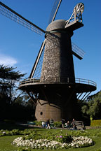 Dutch Windmill in the Queen Wilhelmina Tulip Garden. Golden Gate Park, San Francisco, California, USA. - Photo #2687