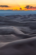 Rolling dunes. Great Sand Dunes NP, Colorado. - Photo #33187