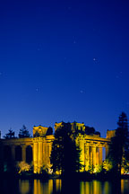 Colonnade at the Palace of Fine Arts, at night. San Francisco, California. - Photo #88