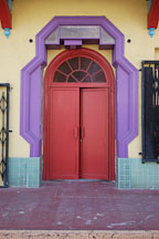 Doorway. Chinatown, Los Angeles, California, USA. - Photo #6888