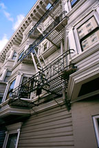 Fire escape. San Francisco, California. - Photo #888
