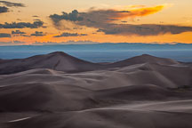 Looking west over the dune field. Great Sand Dunes NP, Colorado. - Photo #33188