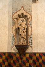 Religious statue in Mission San Xavier Del Bac, Tucson Arizona. - Photo #47188