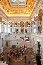 Tourists in the Great Hall. Thomas Jefferson Building, Library of Congress, Washington, D.C. - Photo #29288
