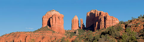 Cathedral Rock panorama. Sedona, Arizona. - Photo #22089