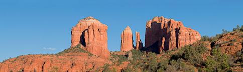 Cathedral Rock panorama. Sedona, Arizona. - Photo #22089
