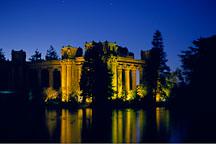 Colonnade and reflection at the Palace of Fine Arts. San Francisco, California. - Photo #89