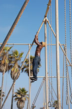 Climbing gymnastics equipment. Venice, California, USA. - Photo #7430