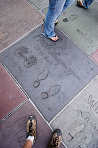 Arnold Schwarzenegger's hand and footprints. Grauman's Chinese Theater, Hollywood, California, USA. - Photo #7526