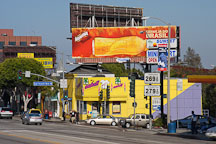 Billboards and stores. Sunset Boulevard, Los Angeles, California, USA - Photo #7545
