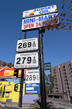 Gas prices. Sunset Boulevard, Los Angeles, California, USA - Photo #7548