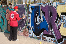 Graffiti artist. Venice, California, USA. - Photo #7458